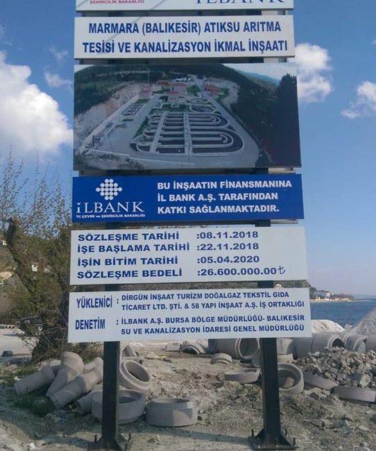 Marmara Atıksu Arıtma Tesisi Ve Kanalizasyon İkmal İnşaatı